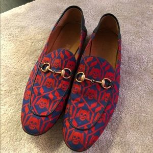 Gucci Brixton Geometric Skulls Print Mens Loafer